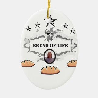 Jesus bread of life logo ceramic ornament