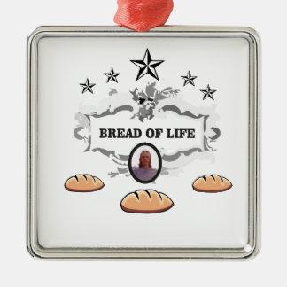 Jesus bread of life logo metal ornament