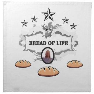 Jesus bread of life logo napkin