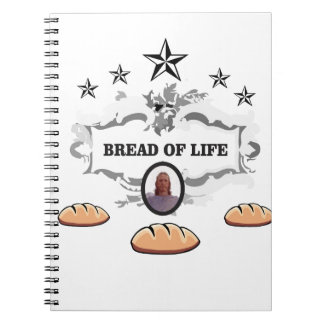 Jesus bread of life logo notebook