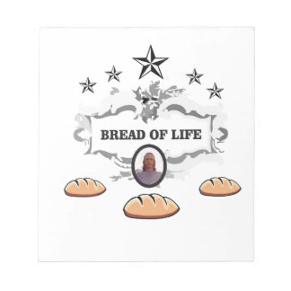 Jesus bread of life logo notepad