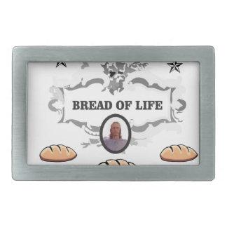 Jesus bread of life logo rectangular belt buckle