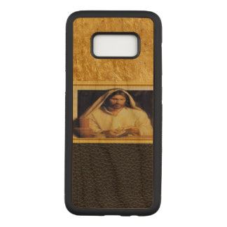 Jesus Breaking Bread Gold And Black texture Carved Samsung Galaxy S8 Case