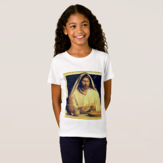 Jesus Breaking Bread Gold And Black texture T-Shirt