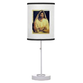 Jesus Breaking Bread Vintage Table Lamp
