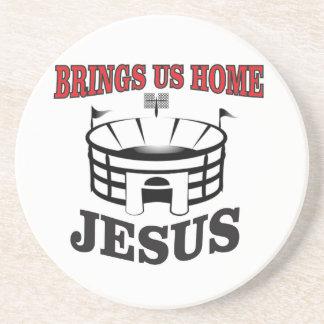 Jesus brings us home coaster