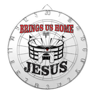 Jesus brings us home dartboard