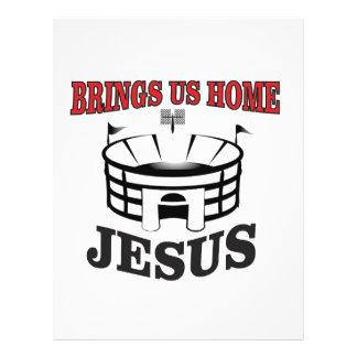 Jesus brings us home letterhead
