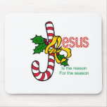 Jesus Candy Cane Mouse Pad