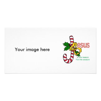 Jesus Candy Cane Photo Card