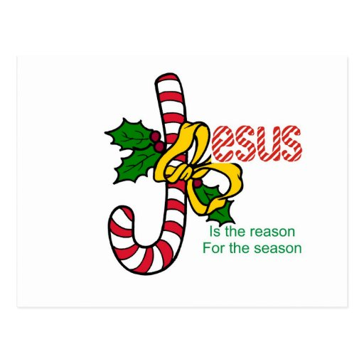 Jesus Candy Cane Post Cards