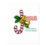 Jesus Candy Cane Postcard