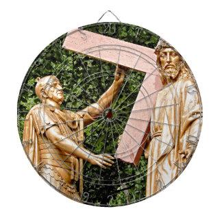 Jesus Carries Cross Dartboard