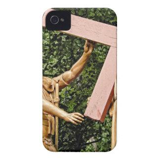 Jesus Carries Cross iPhone 4 Case-Mate Cases
