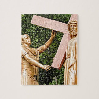 Jesus Carries Cross Jigsaw Puzzle