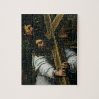 Jesus Carrying the Cross, c.1535 (oil on panel) Jigsaw Puzzle
