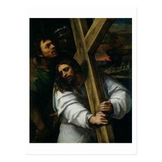 Jesus Carrying the Cross, c.1535 (oil on panel) Postcard