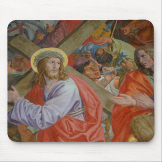 Jesus Carrying The Cross Mouse Pad