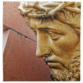 Jesus carrying the cross napkin
