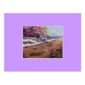 JESUS carrying Woman in trouble Zazzle Postcard