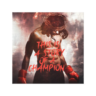 Jesus Champion Canvas Print