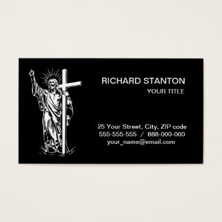 Jesus Christ and a cross Business Card