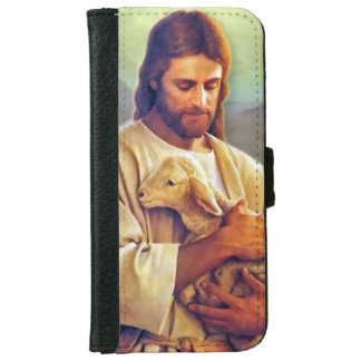 Jesus Christ and Lamb iPhone 6 Wallet Case