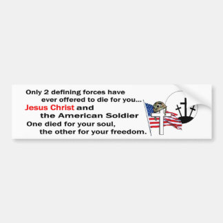 Jesus Christ and the American Soldier 2nd version Car Bumper Sticker