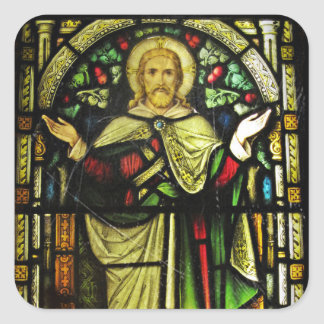 Jesus Christ Arms Outstretched Square Sticker