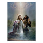 Jesus Christ Baptism by John the Baptist Poster