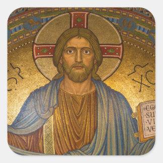 Jesus Christ - Beautiful Christian Artwork Square Sticker