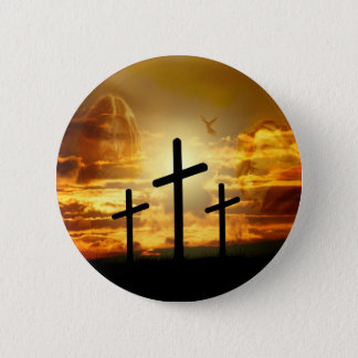 Jesus Christ Blessed Virgin Mary Dove Calvery 2 Inch Round Button