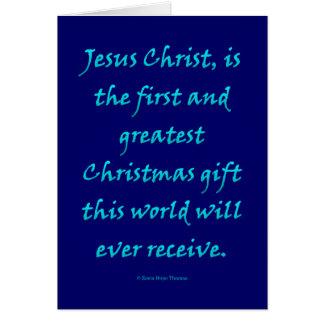 Jésus-Christ, cadeau de Noël Carte De Vœux