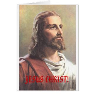 JÉSUS-CHRIST ! carte de Noël de superstar