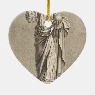 Jesus Christ Ceramic Heart Ornament