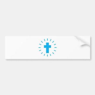 Jesus Christ Cross Bumper Sticker