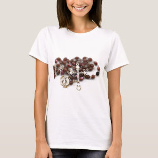 Jesus Christ Cross catholic rosary T-Shirt