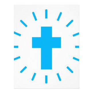 Jesus Christ Cross Letterhead