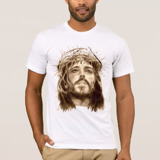 Jesus Christ Crown of Thorns Prayer Hands T-Shirt