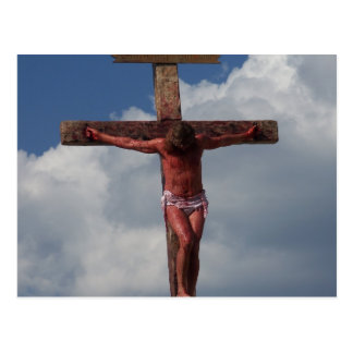 Jesus Christ crucified on the cross postcard photo