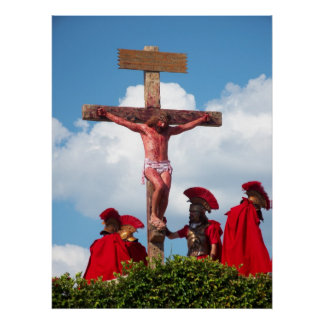 Jesus Christ Crucifixion Cross Christian Poster