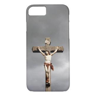 Jesus Christ crucifixion statue iPhone 7 Case