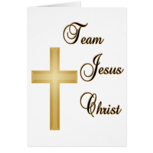 Jésus-Christ d'équipe Cartes De Vœux