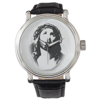 Jesus Christ Face Stencil Watch
