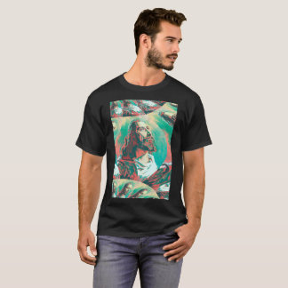 Jesus Christ Fractal Dove Peace Posterized T-Shirt