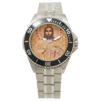 Jesus christ golden icon watches