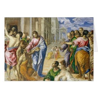 Jesus Christ Healing The Blind Card