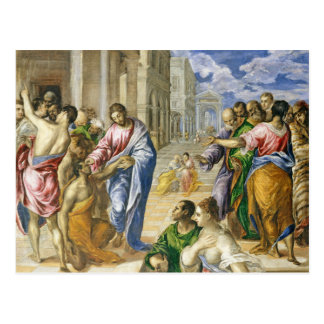 Jesus Christ Healing The Blind Postcard