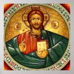 Jesus Christ Hristos Pantocrator Poster