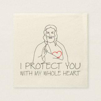Jesus Christ - I Protect You Disposable Napkins